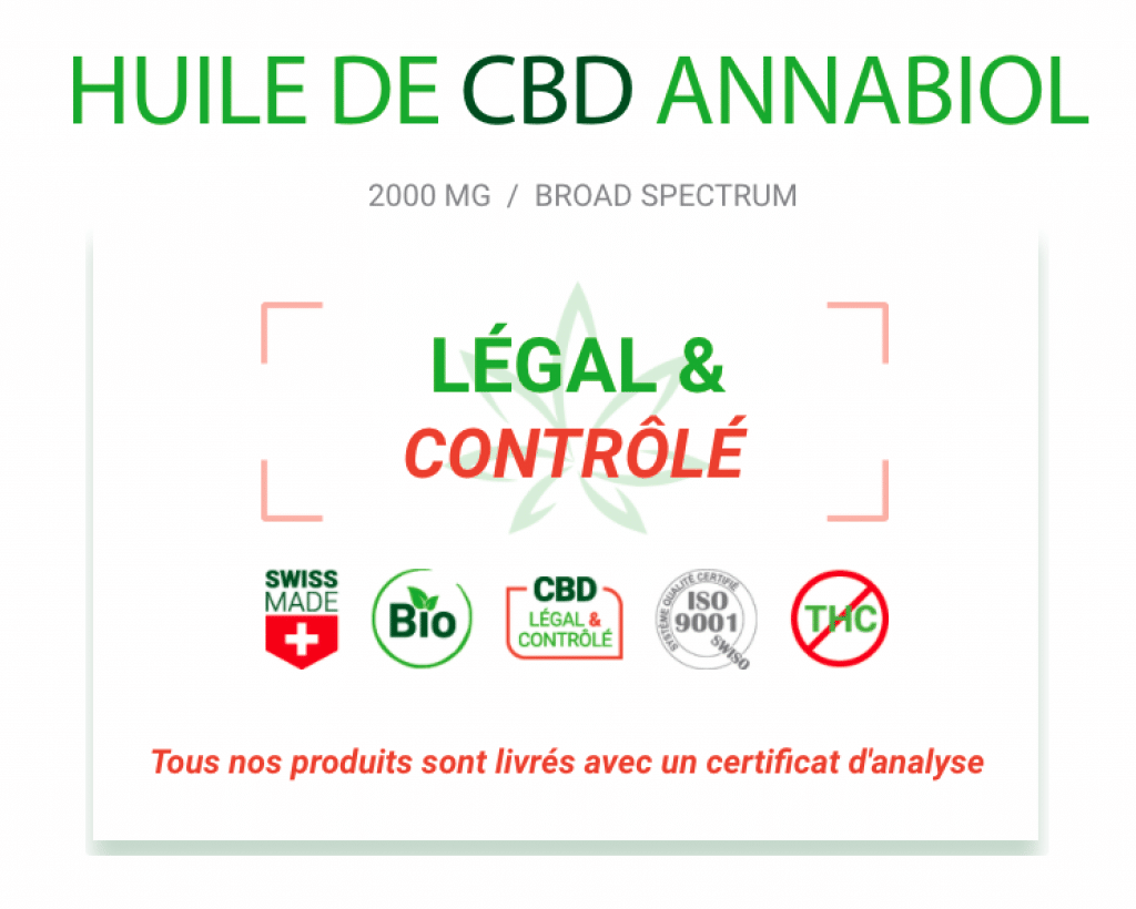 L'huile de CBD Annabiol est légale