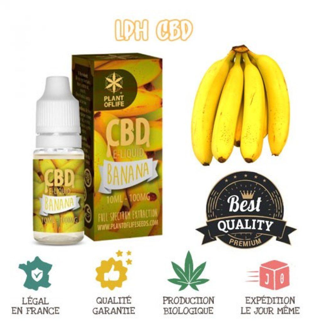 e-liquide CBD à la banane