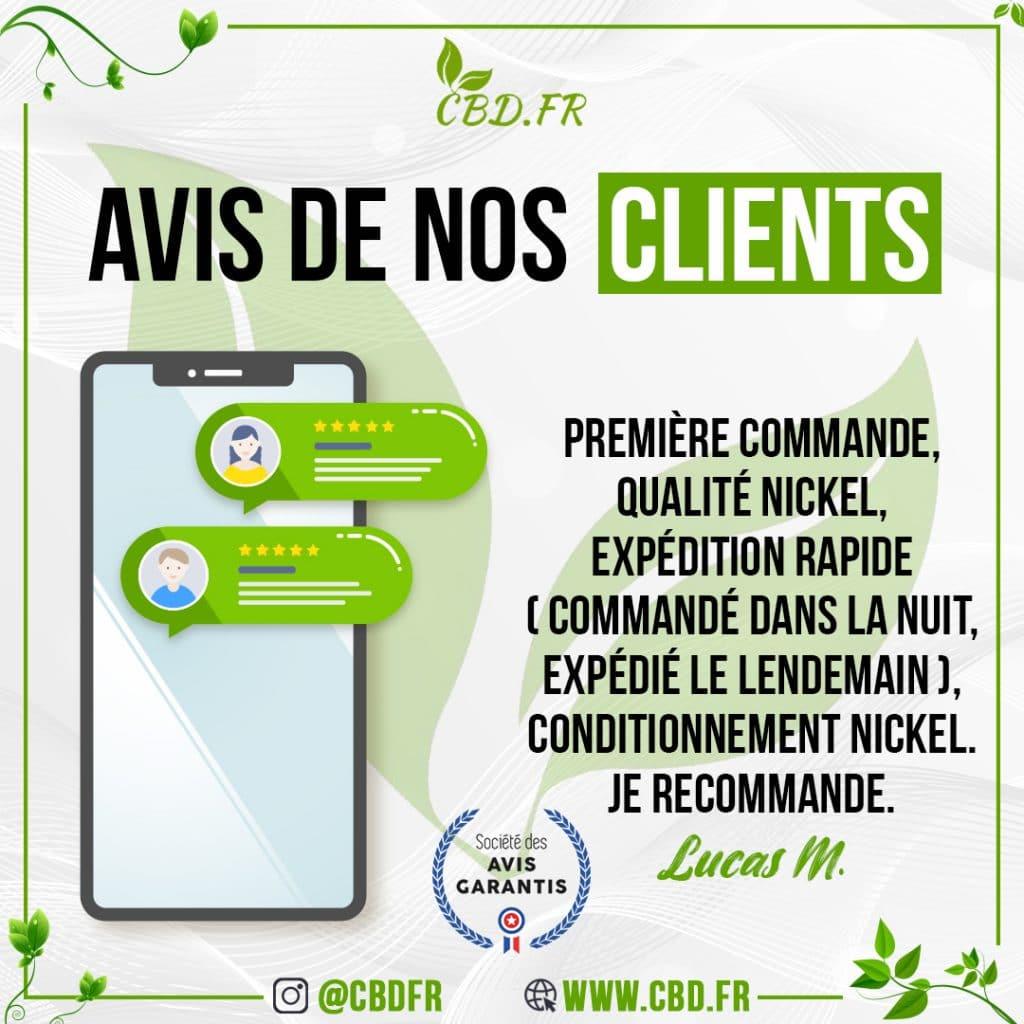 Avis clients sur le site CBD.fr