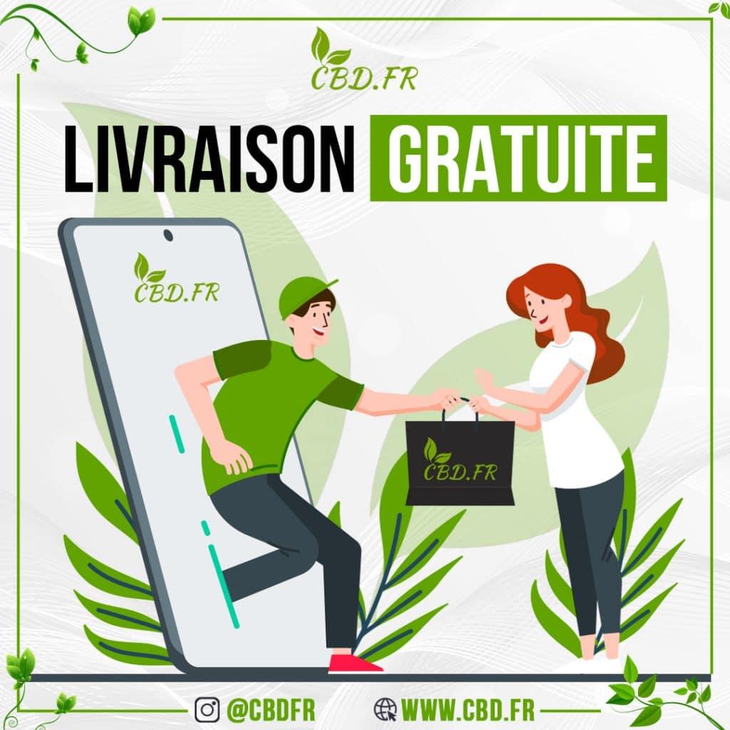 Livraison gratuite sur la boutique en ligne CBD.fr