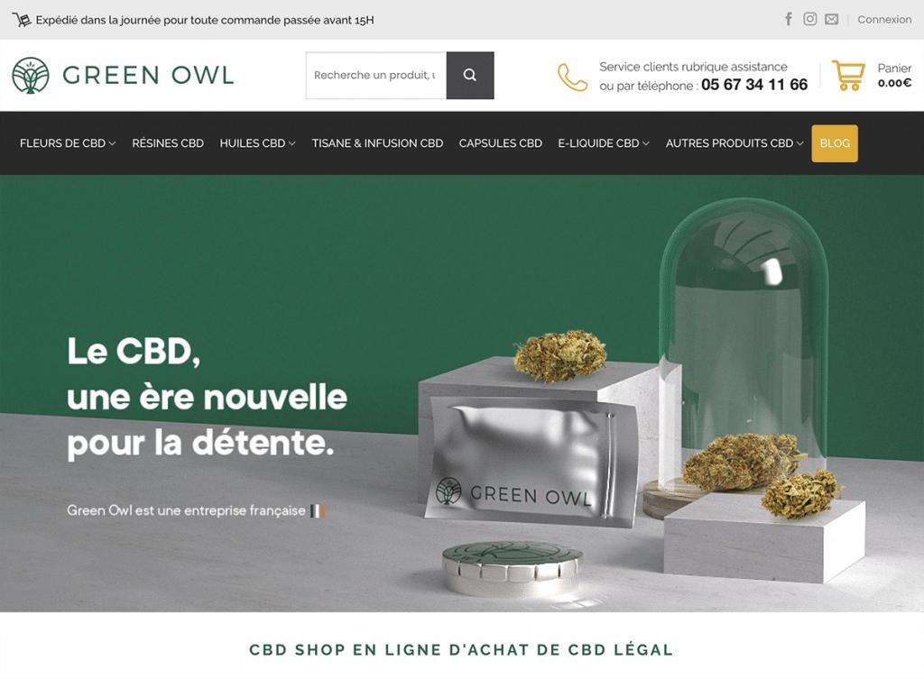 Site pour acheter du CBD légal en France Green Owl