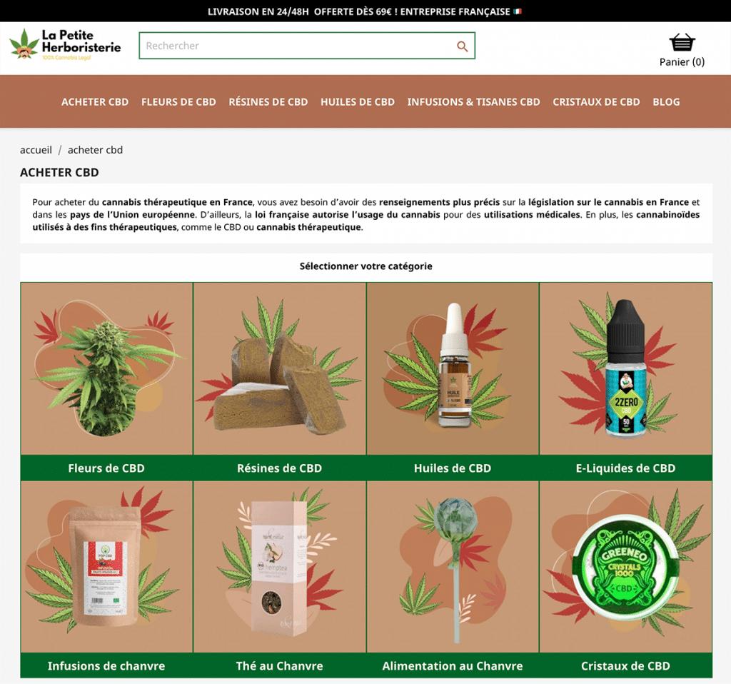 Site de La Petite Herboristerie