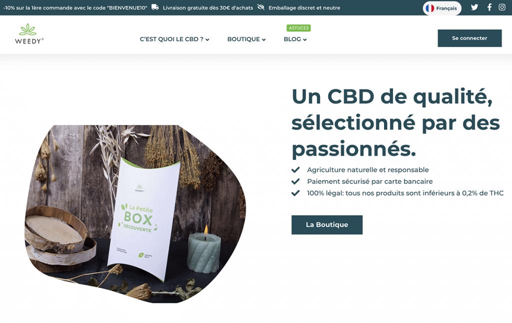 Site officiel Weedy.fr